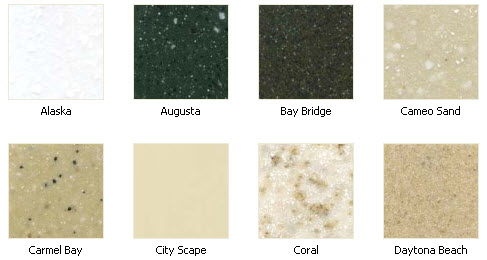 Solid Surface Color Options